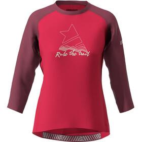 Zimtstern PureFlowz Camiseta Manga 3/4 Mujer, jester red/windsor wine/fog green